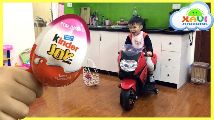 Easter eggs hunt surprise eggs Kid rides motorbike - Compilation Kids Vi...