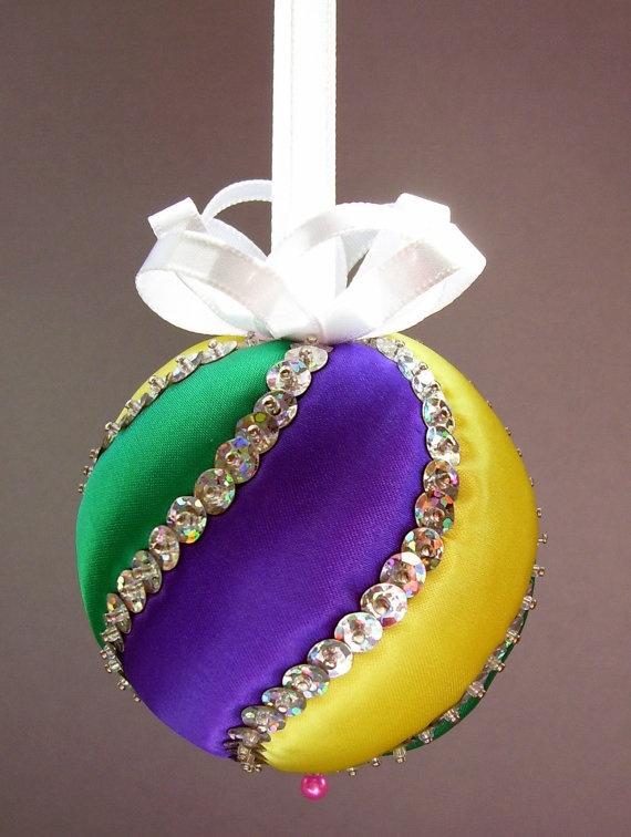 Satin Mardi Gras Swirl Ornament by ornamentdesigns on Etsy ...