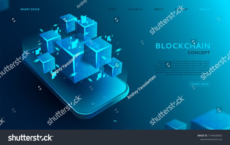 Abstract background with Blockchain concept. 3d abstract digital blocks or cubes constructs database. Technology banner with realistic blocks on the s…
