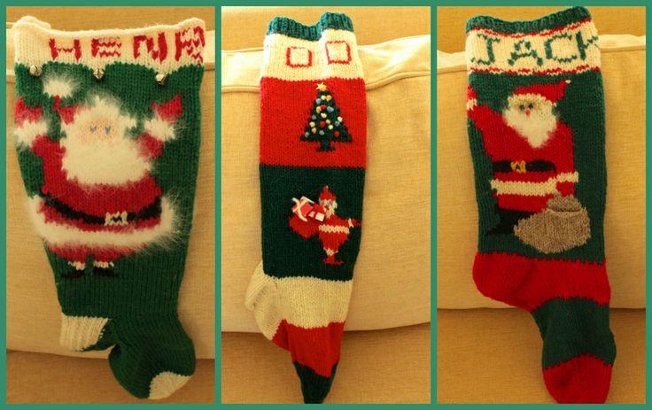 Bassett vintage handmade stocking collage via The Gracious Posse