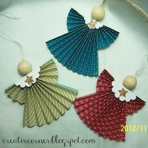 Anjos de papel na decoração natalina - AQUI TEM De TUDO - VERA MORAES