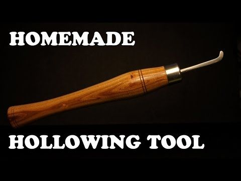 Homemade Woodturning Tools - Lathe Hollowing Tool - YouTube