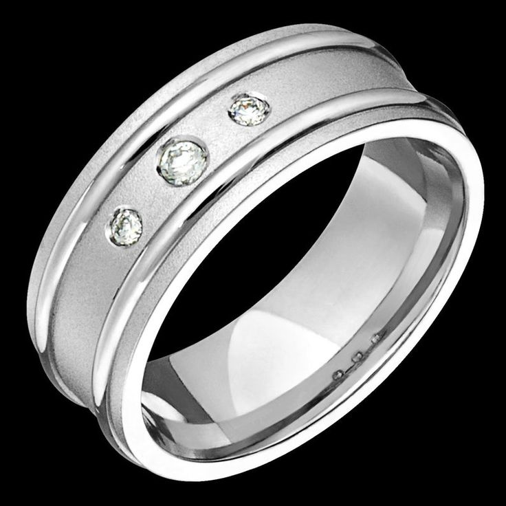 8mm wide comfort fit 10k white gold solid not plated