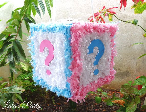 Gender Reveal Cube Hit Pinata Baby Shower By LaLasParty On Etsy, $63.00