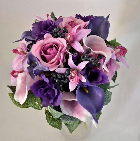 свадебные букеты из сиреневых орхидей - Поиск в Google