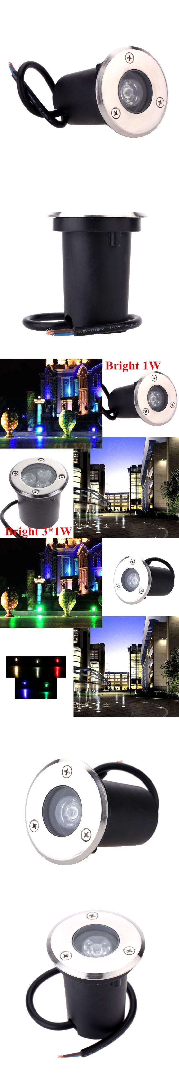 Best Waterproof Outdoor LED Underground Lamp 1W 3W Outdoor Garden Lighting 220V 110V Path Buried Light Blubs Landscape Spotlight
