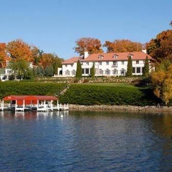 Just 60 miles southwest of Milwaukee, this pretty resort town's population of 8,000 swells every summer when vacationers arrive. Hotels, resorts and restaurants hug the lakeshore, and boat tours leave from downtown.