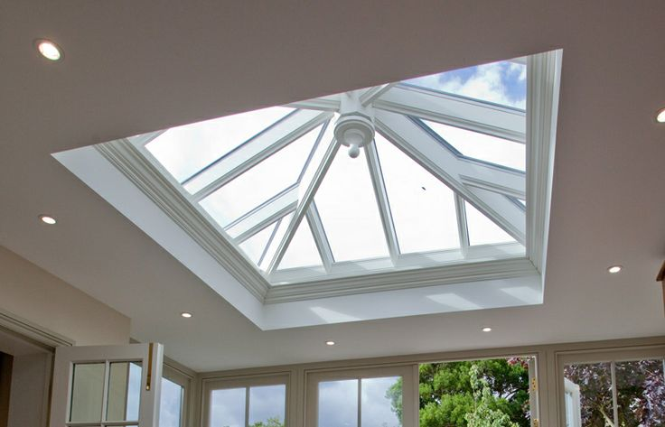 Westbury Garden Rooms, small roof lantern in timber orangerie extension