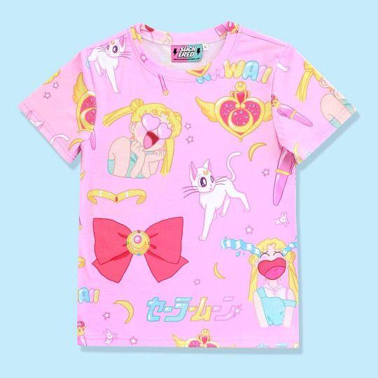 sailor moon pastel shirt