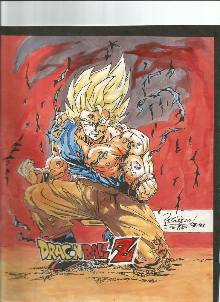 Dibujo realizado el 98, de la serie Dragon ball Z