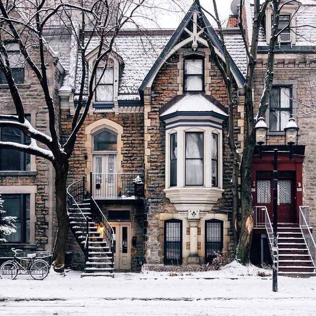 """""""Fresh snow, this morning. Montreal"""
