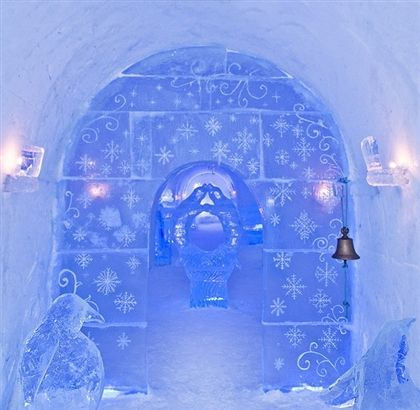 #217-Stay in, (Or visit, visiting is nice xD ) and Ice hotel. Because they look so pretty. :D