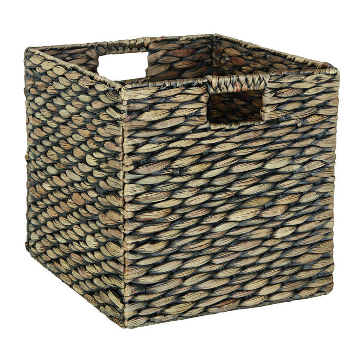 The brand new Cancun Storage Basket in espresso combines storage and style This storage basket fits perfectly into the Matrix cube cabinet range for the ultimate in sleek storage. The hand woven design reflects the artisan look of this basket and the brown wash colour adds rustic appeal to your living space. It's time to de-clutter and give your home the look it deserves. Price $17.95.