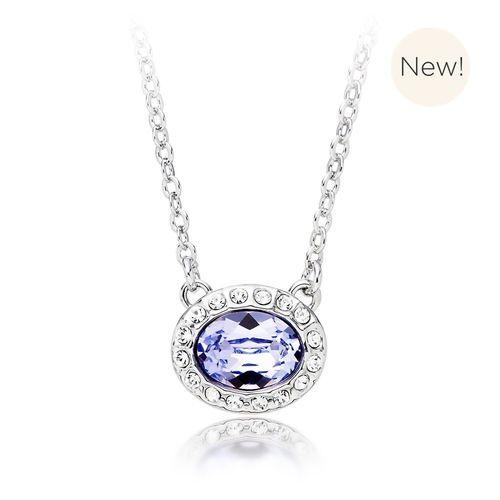 Christie Oval Pendant with Lavender Swarovski® Crystal