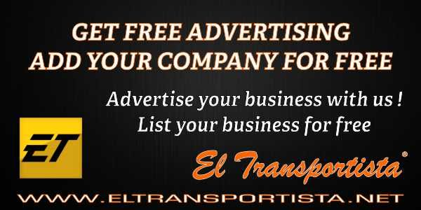 Free Business Listing on our Directory ​    Advertise your business with us on our Free Business Listing on our Directory of Companies. Spanish website related with the transportation industry