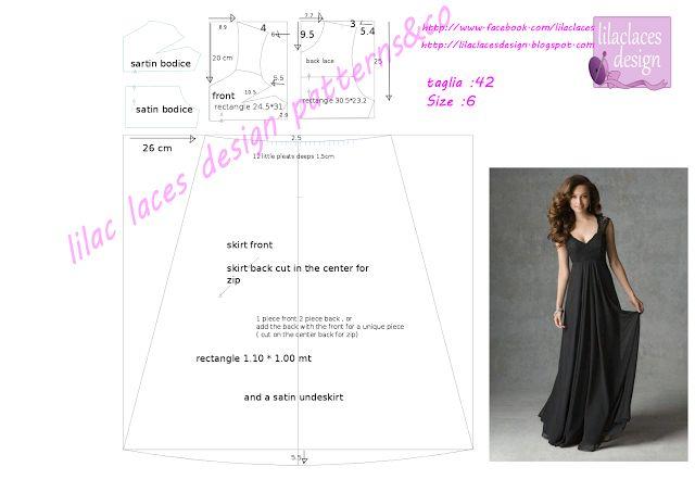 Black elegant dress pattern tutorial - abito nero elegante cartamodello tutorial
