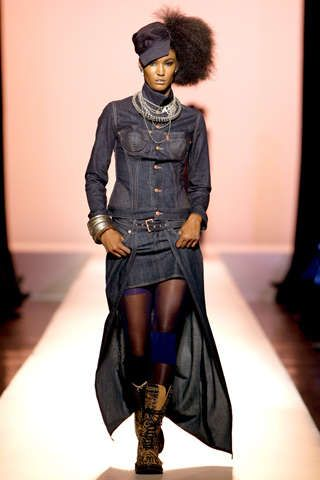 Hip-Hop Denim Couture: Blues Remixed in the Jean-Paul Gaultier Spring 2010 Collection