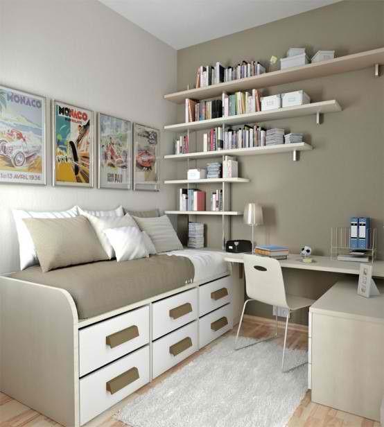 shelf placement - Modern Bedroom Design for Teenager