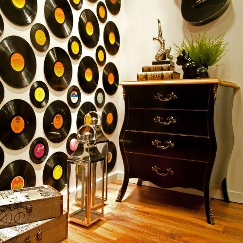 C mo decorar las paredes con discos vinilos blog - Como decorar paredes ...