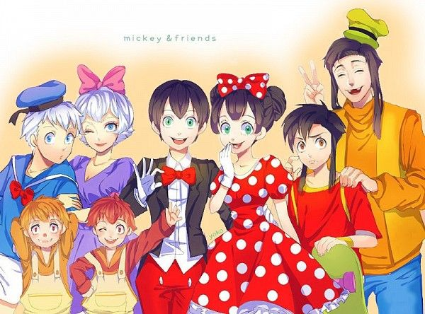 mickey and friends humanoid
