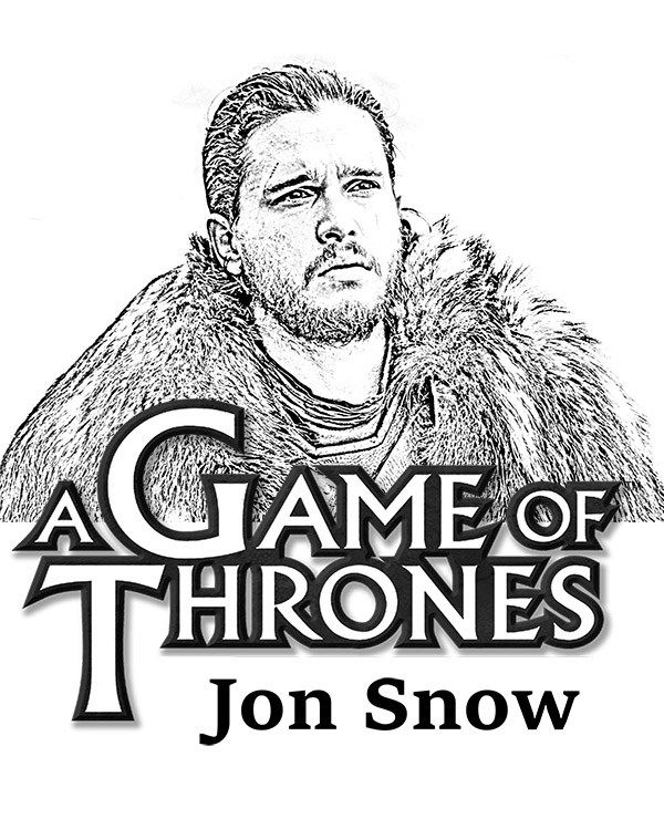 A Game of Thrones coloring page - Jon Snow
