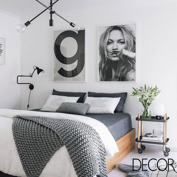 Os diferentes tons de cinza concedem charme ao décor, assim como o tapete felpudo