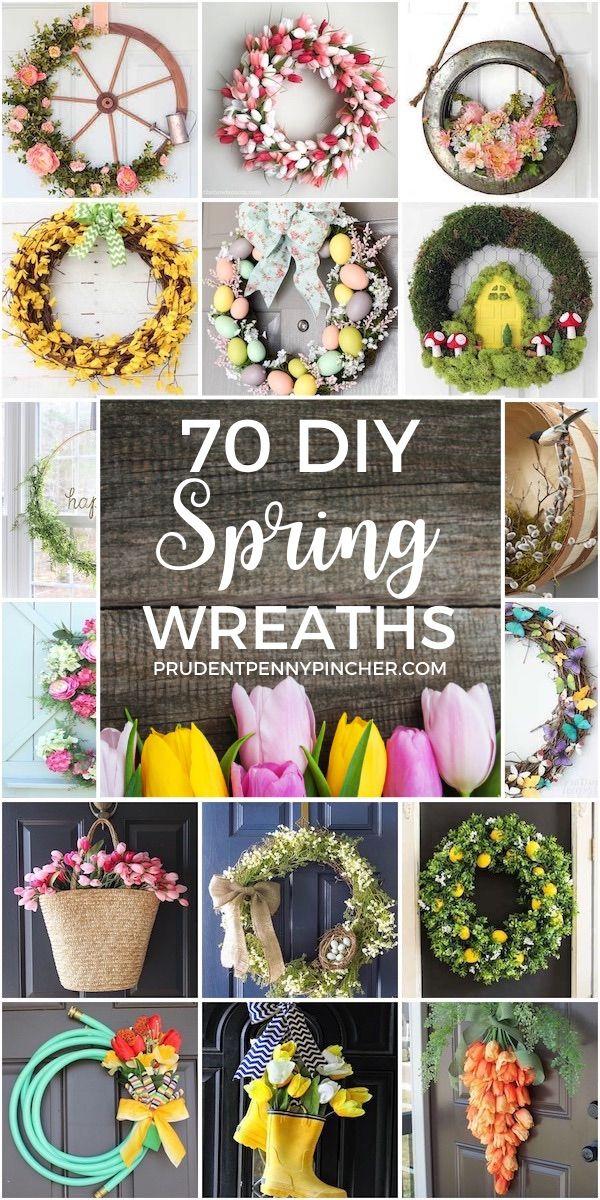 70 Best Diy Spring Wreaths In 2020 Spring Diy Diy Spring Wreath Diy Floral Wreath