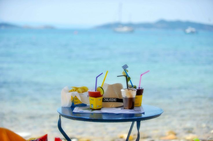 Turquoise waters and delicious snacks at Agionissi Resort, Ammouliani island, Halkidiki, Greece