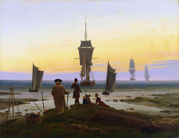 Caspar David Friedrich, The life stages (beach scene in Wiek), 1834 ca., Museum der bildenden Künste Leipzig