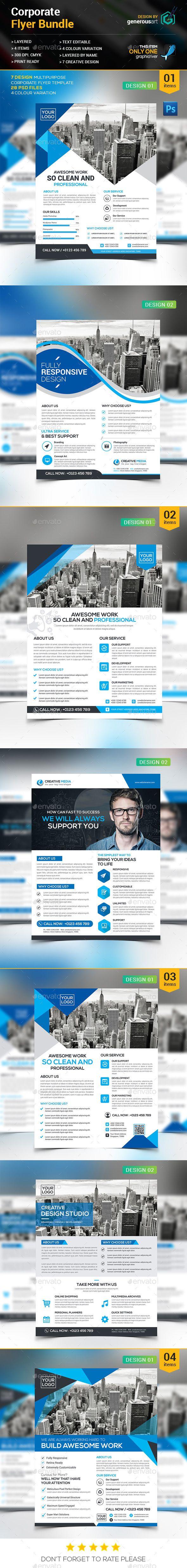 Flyer Bundle Template PSD #design Download: http://graphicriver.net/item/flyer-bundle/14059281?ref=ksioks
