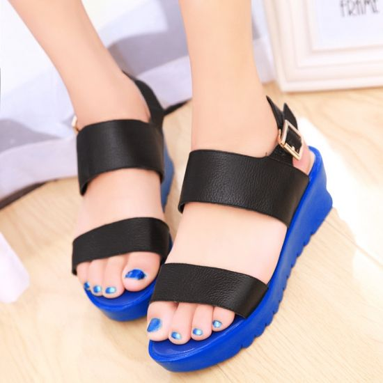 England Candy Color Open Toe Low Heel Casual Summer Fabulous Flat Sandals