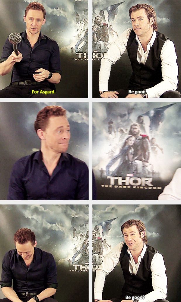 "Tom is just like ""You dipshit. Are you kidding me? You're Chris god damn Hemsworth and your line is 'Be good?' Leave."""