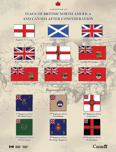 British America | Flags of British North america and Canada after Confederation ...