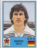 Mani Kaltz of West Germany. Euro '80 card.