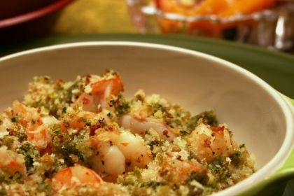 Baked Shrimp Scampi........    YUM...This is super easy and makes a great dinner or even a nice appetizer served with a sliced baguette.
