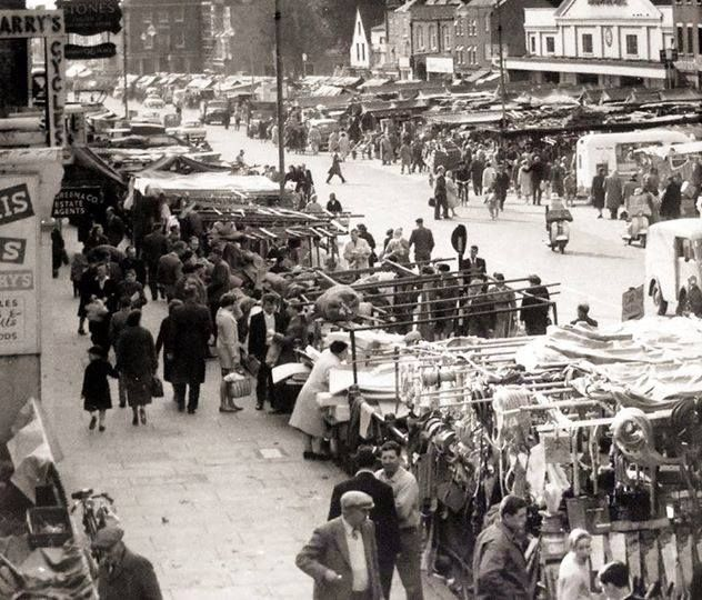 Romford market in the 1960s...looked about the same in the 80s and 90s