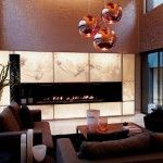 Glamorous Living Room Design Ideas with Modern Fireplace and Cozy Sofa