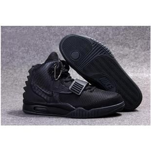 aae81e5424741a http   www.anike4u.com  Nike Air Yeezy 2 Blackout Kanye West Mens Nike  Yezzy Shoes SD19