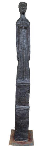 An original sculpture by Deborah Bell entitled: Sentinel VIII. bronze.  #DeborahBell #FineArt #SouthAfricanArt #SouthAfricanArtist #Bronze #Sentinel  For more please visit: www.finearts.co.za