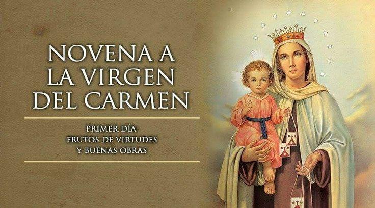 Primer día Novena Virgen del Carmen