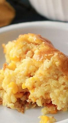 Sweet Corn Spoonbread. My fav thanksgiving side dish ever!! This quick and easy Corn Spoonbread is sweet, delicious and tastes like home. Made with two kinds of corn, Jiffy, and sour cream.