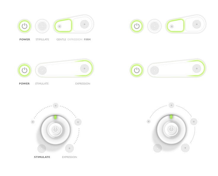 2011 - PHILIPS Final sketches for a real 3D UI on a released but not to be disclosed product. UI/UX development, design and art direction.