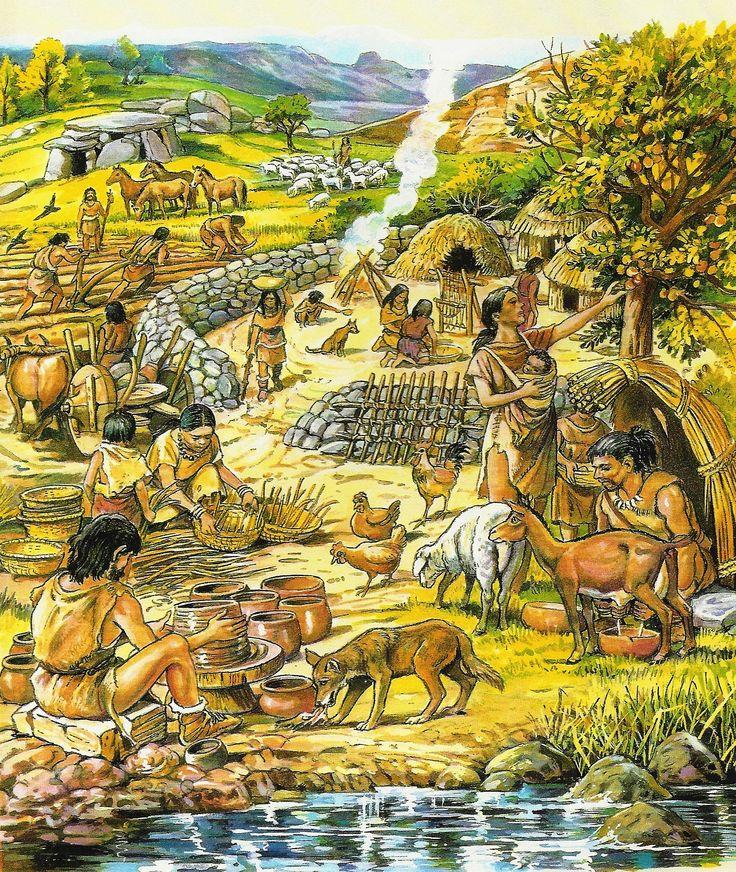 werkzaamheden in de latere steentijd (neolithicum)