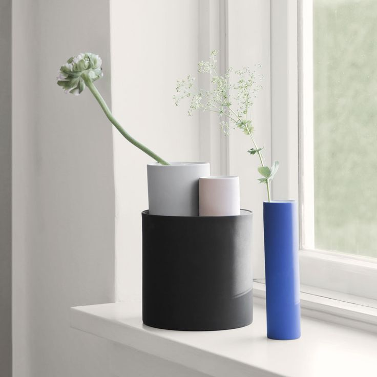 The Collect Multi Vases Are A Set Of Four Modern Vases By Ferm Living In  Different Images