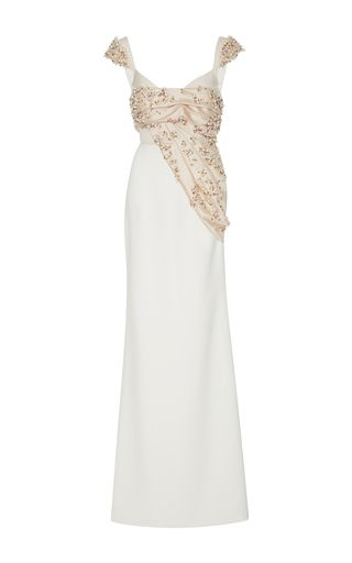 2017 Bibhu Mohapatra Column Beaded Gown…