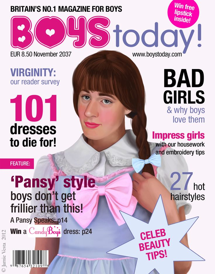 Boys Today! magazine, November 2037