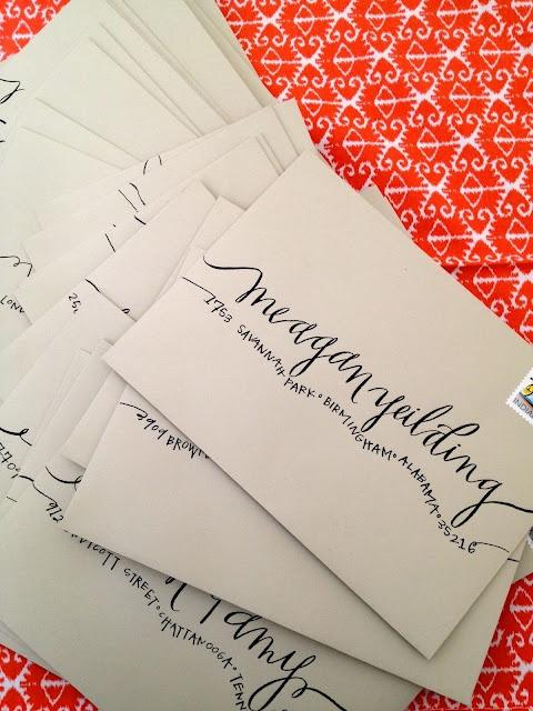 envelope lettering    www.hardinkcalligraphy.com