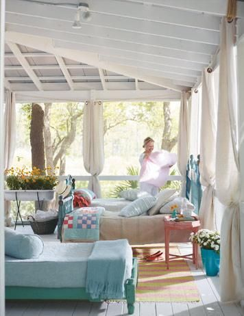 Imagine an afternoon nap - feel the breeze.  Or a place to sit quietly and listen.  Hear the summer sounds!  Kids playing, grass being mowed, dogs barking, maybe an ice cream truck?  Night sounds too - crickets and such.  Best of all no mosquitoes!