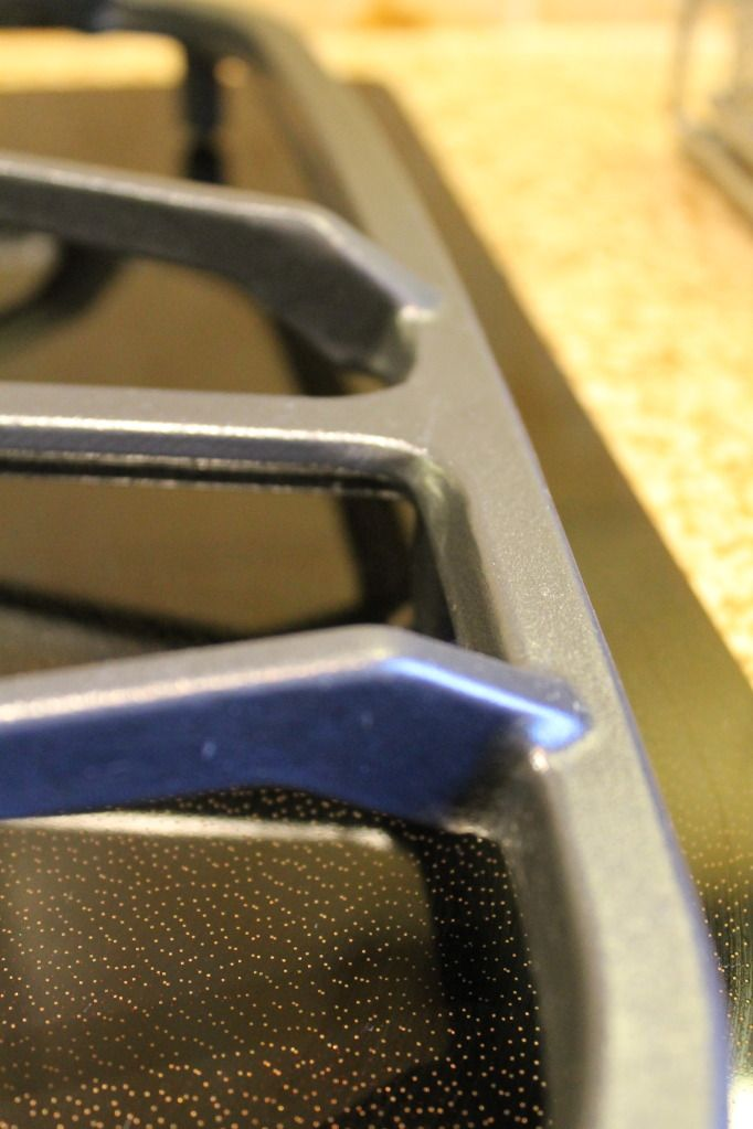 how to clean enamel stove top grates
