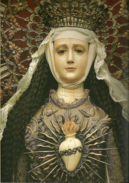 Purisimo Corazon de Maria, The Immaculate Heart of Mary. Attributed to Leoncio Asuncion y Molo (1813 -1888) Filipino  www.metamourskincare.com